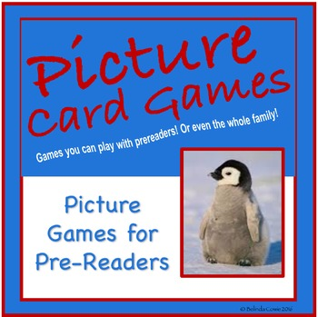 FREE Picture Card Games for Pre-Readers or Late Readers