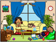 Picture Chat- Around Home. Vocabulary, 'wh' questions and