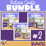 Distance Learning Picture Chat- Bundle #2! Vocabulary, Wh questions & discussion