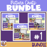 Distance Learning Picture Chat- Bundle #1! Vocab, 'wh' questions and discussion