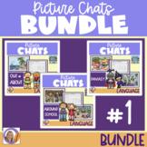 Distance Learning Picture Chat- Bundle #1! Vocab, 'wh' que