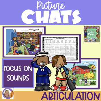Picture Chat- Focus on Sounds f,s,sh,ch,l,r + Vocab, 'wh' questions & discussion