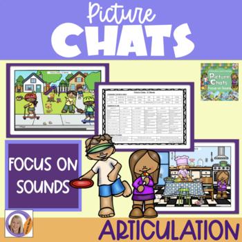 Picture Chat- Focus on Sounds- s,l,r blends + Vocab, 'wh' questions & discussion