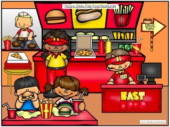 Picture Chat- Food and Dining. Vocabulary, 'wh' questions and discussion