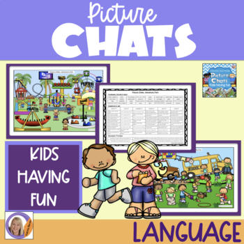 Picture Chat- Kids Having Fun. Vocabulary, 'wh' questions and discussion