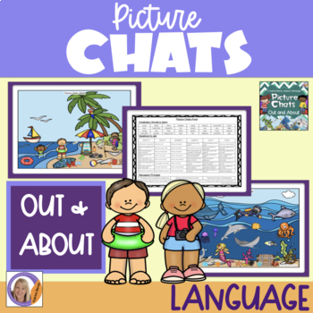 Picture Chat- Out and About. Vocabulary, 'wh' questions and discussion