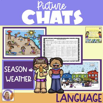 Picture Chat- Seasons & Weather. Vocabulary, 'wh' question