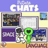 Picture Chats- Space- Vocab, Wh questions & discussion