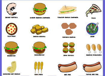 Picture Check-In/Lunch Choice Flipchart (With and Without ...
