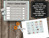 Picture Chore Chart - Toddler - Kids - CUSTOMIZE - Routine