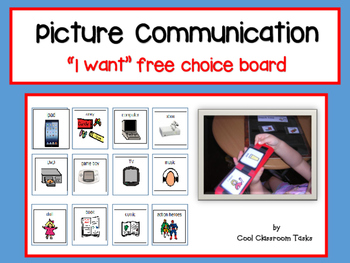 "Picture Communication ""I want"" free choice - Autism/Special Education"