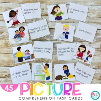 Picture Comprehension Cards {Build Beginning Comprehension}
