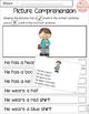 Picture Comprehension Cards and Worksheets Bundle