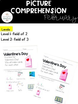 Picture Comprehension- February (for students with Special Needs)
