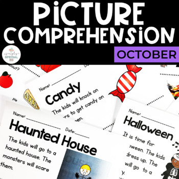 Picture Comprehension- Halloween/ October (for students wi