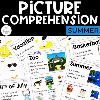picture comprehension summer for students with special needs tpt