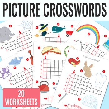 Picture Crossword Puzzles for Kindergarten and Grade 1