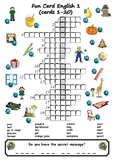 Picture Crosswords With Secret Messages Part 1 (16 crosswo