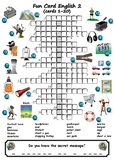 Picture Crosswords With Secret Messages Part 2 (16 crosswo