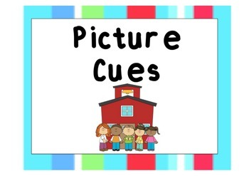 Picture Cue Poster - Vertical Stripes