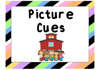 Picture Cue Posters - Colorful Striped
