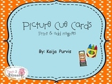 Picture Cues-- Helps for Kindergarten and ELL students