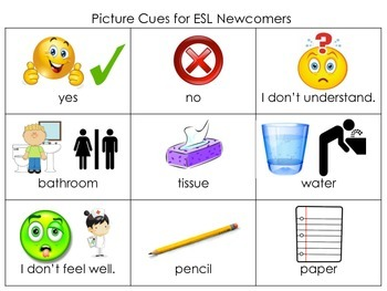 Picture Cues for ESL Newcomers