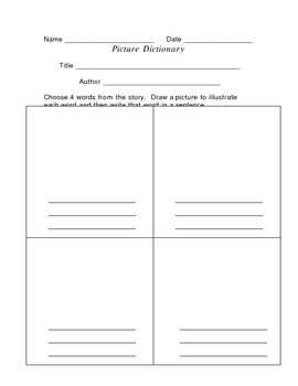 Picture Dictionary Activity