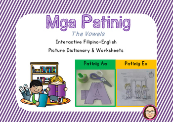 Filipino-English Vowel Picture Dictionary