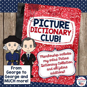 Upper Elementary Social Studies Picture Dictionary Bundle