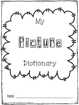 Picture Dictionary- Student Black and White Version