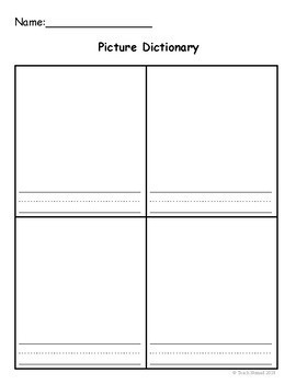 Picture Dictionary  Template