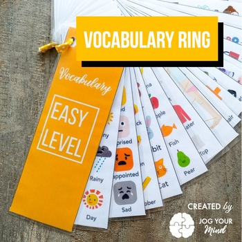 Picture Dictionary / vocabulary key ring - ESL - Learn new words with pictures