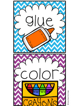 Picture Direction Cards {chevron!}