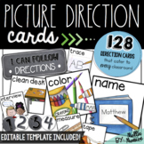 Picture Direction Cards & Editable Template