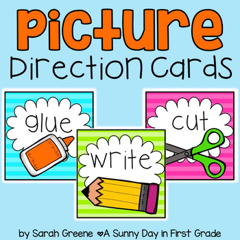 Picture Direction Cards {neon!}
