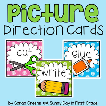 Picture Direction Cards {polka dot!}
