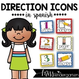 Picture Direction Icons Primary Colors {Spanish}