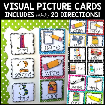 Classroom Management: Picture Direction Cards