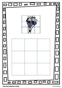 Picture Enlargement Using a Grid - A Fun Maths/Art Activity