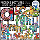 Phonics Pictures Filled Alphabet (lowercase) Clip Art - Wh
