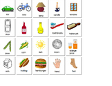 Picture Flash Cards For Compare and Contrast (Same/Different)