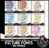 Picture Fonts Big Bundle {Educlips Clipart}
