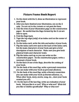 Picture Frame Book Report