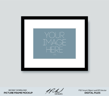 Picture Frame Mockup PSD Smart Object and EPS Vector Files - Digital File