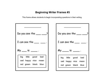 Picture Frame Writing Support