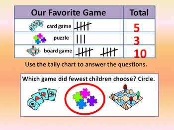 Picture Graph, Bar Graph, Tally Chart.  Set of 9 PowerPoint Presentations