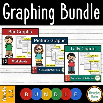 Picture Graph, Bar Graph and Tally Chart Worksheets Bundle