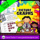 Picture Graphs Worksheets and Activities with Google™ Slid