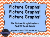 Picture Graph Posters - 6 Bar Graphs and 24 Tasks Cards